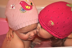 my kids (lucymayday) Tags: love kids hug bath sister brother daughter hats son