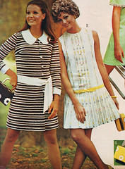 pennys 69 ss striped dress (jsbuttons) Tags: 1969 clothing mod 60s buttons womens catalog 69 sixties pennys jcpenny vintagefashion buttonfrontdress