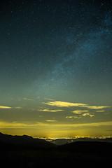 (PC) under the stars (FiPremo) Tags: italy stars europe blu giallo montagna piacenza città stelle