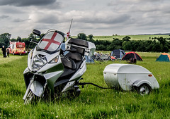 Silverwing scooter and trailer. (CWhatPhotos) Tags: pictures camera camping party color colour colors bike june honda that lens fun photography hall tents do colours foto ride image artistic zoom action pics weekend yorkshire rally north group picture motorcycles pic scooter olympus images have photographs photograph fotos 600 motorcycle helmsley ez trailer rider which mag maxi contain bikers omd motorcyclists motorcyclist 2014 farmyard silverwing em10 duncombe farmyardparty 1442mm fjs600 cwhatphotos scooterandtrailer farmyard2014