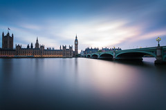 Houses of Parliament (Palace of Westminster) and Westminster Bridge, London (Davoud D.) Tags: uk longexposure sunset london thames cloudy housesofparliament parliament bigben riverthames westminsterbridge thecommons palaceofwestminster cityofwestminster elizabethtower