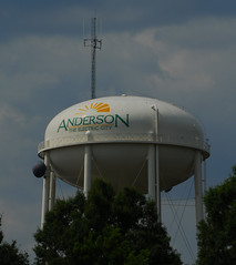 Anderson, SC (davidwilliamreed) Tags: watertower andersonsc theelectriccity