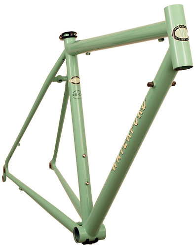 <p>Front view of Waterford 14-Series Road Sport in Rock Moss Green with Ivory Block Decals.  This simple, yet compelling color combination will attact looks with its understatement.</p>