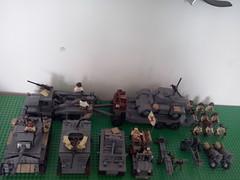 Lego ww2 us collection (WW2 Creations) Tags: truck soldier us war gun tank lego cannon ww2 vehicle soldiers guns medic sherman warfare brancard