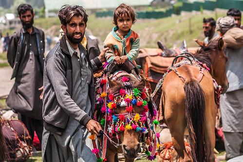 Horse rider from Aru, Kashmir, India