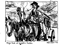 Superstition Stage Coach (Kerry Niemann) Tags: inkdrawing stagecoach apachejunction superstitionmuseum
