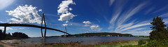 Uddevallabron panorama (Mabry Campbell) Tags: bridge panorama seascape photography coast photo image sweden pano may coastal photograph iphone 2014 uddevallabron mabrycampbell