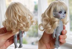 For Sale: Leeke World Wig LK5-009 (Chu-Boo) Tags: world new blue yellow angel for doll sale bob curls wig tiny bjd lk 008 009 leeke lati lk5