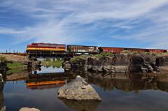 San Luis & Rio Grande - Antonito, Colorado (chief_huddleston) Tags: railroad reflection train colorado railway depot rockymountains alamosa freighttrain antonito drg funit denverriogrande drgw blancapeak slrg fp10 sanluisriogrande slrg1100