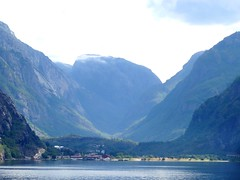 Lysefjord  looking to the end which is the village of Lysebotn. Norway.