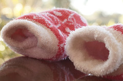 Warm winter socks (judith511) Tags: winter reflection socks warm fluffy week3 doublelayer 7daysofshooting aboutmeunusualpovtuesday