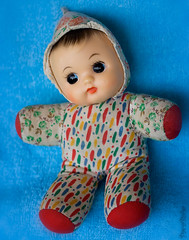 Shevie (PacaBaba) Tags: face vintage toy doll rubber cloth squeaker shevie