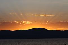 Lake Tahoe Sunset (dlofink) Tags: sunset cloud sun lake color water clouds tahoe rays