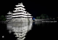 Matsumoto Castle  Glenn E Waters. Japan 2014. . Over 3,000 visits to this photo. (Glenn Waters in Japan.) Tags: reflection japan japanese nikon getty  samurai moat matsumoto nagano  japon d800    japanesecastle  matsumotocastle    glennwaters