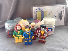 X-Man Team (KeteR_u_S) Tags: man phoenix angel lego x custom colossus minifigure cyclopus