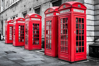 Red Telephone Boxes, Westminster