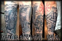 Tattoo by Enoki Soju (Enoki Soju) Tags: tattoo vikingship tattooart tattoodesign tattooartist aegishjalmur awardwining helmofawe healedtattoo tattoophoto vikingtattoo enokisoju enokisojutattoo professionaltattooartist vikingshiptattoo awardwinningtattooartist tattoobyenokisoju enokisojuest enokisojusleevetattoo awardwiningartist thehelmofawetattoo valknuttattoo aegishjalmurtattoo healedsleeve vikingsleeve