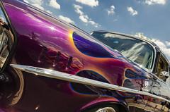 Fire on fire (GmanViz) Tags: roof sky color detail chevrolet hardtop belair car nikon automobile flames fender chrome 1957 gmanviz d7000 goodguysppgnationals