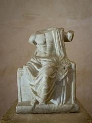 Statue of Zeus in Umm Qais, Jordan