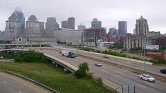 Downtown Cincinnati (Travis Estell) Tags: ohio highway crane cincinnati freeway interstate i71 constructioncrane towercrane interstatehighway interstate71 downtowncincinnati sevenatbroadway