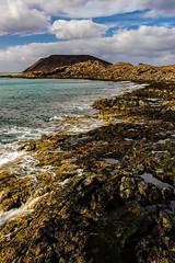 Isla de Lobos, Fuerteventura, Spain (Marc Arnoud Rogier van der Wiel) Tags: ocean sea españa water clouds coast spain rocks outdoor teal fuerteventura atlantic serene spanien spanje vulcanic httpsrbphotographiccouk