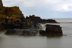 Gentle Splash (steve_whitmarsh) Tags: longexposure sea cliff beach water coast scotland rocks aberdeenshire
