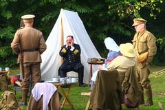"""Well chaps it looks like we are surrounded"" (Tony Shertila) Tags: camp england soldier europe gun britain tent birkenhead worldwarone ww1 greatwar hdr wirral worldwar1 reinactment festivaloftransport birkenheadpark"