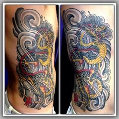 Dragon Ribs #dragon #dragontattoo #pooch_art #alteredstatetattoo @fusionink_ca @neotatmachines