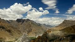 Dhankar monastery (pranav_seth) Tags: india mountain mountains clouds monastery himachal himalayas spiti confluence himachalpradesh incredibleindia dhankar pinriver dhankaar spiteriver