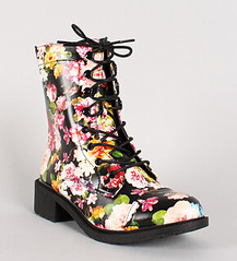 "leatherette-floral-print-lace-up-bootie-nlk • <a style=""font-size:0.8em;"" href=""http://www.flickr.com/photos/64360322@N06/15095822908/"" target=""_blank"">View on Flickr</a>"