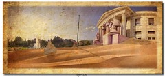 The sands of the mistery cover... (laluzdivinadetusojos) Tags: summer panorama art museum architecture sand egypt culture szeged