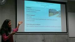 """Janina Žiberna: predstavitev prispevka o raziskovanju in preprečevanju samomora v zaporih • <a style=""""font-size:0.8em;"""" href=""""http://www.flickr.com/photos/102235479@N03/15104193272/"""" target=""""_blank"""">View on Flickr</a>"""