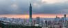 虎山夕色寬景 (JIMI_lin) Tags: sunset panorama widescreen 101 taipei 信義區 觀音山 大冒險 寬景 虎山峰