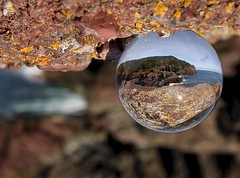 Capturing the View (Karen_Chappell) Tags: ocean seascape canada reflection glass newfoundland ball circle landscape scenery rocks scenic orb atlantic round refraction nfld flatrock