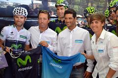 Hermanamiento equipo ciclismo y vela Movistar ©Movistar Team