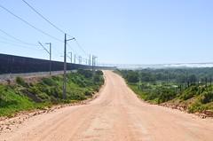 Sishen-Saldanha iron ore railway (jbdodane) Tags: elandsbaai africa bicycle cycletouring cycling cyclotourisme day659 elandsbay ironore ironoreline railway road sishensaldanharailway southafrica spoornet train transnet velo westerncape freewheelycom jbcyclingafrica