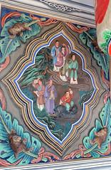Frescos, Tian Hou Gong, Yueh Hai Ching Temple (Jnzl's Public Domain Photos) Tags: street heritage monument temple singapore chinese award bio unesco national restored restoration hai ching philip cheng publicdomain mazu asiapacific wak teochew yueh  tianhougong