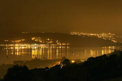 Day #2439 (cazphoto.co.uk) Tags: water misty night reflections riverclyde sodium lan