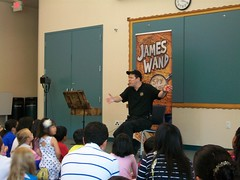 The Secret Agent Magic Show with James Wand @ Harrington Library 9/13/14 (plano.library) Tags: secretagent magicshow jameswand harrington library libraries program all ages connecting families plano tx public system