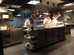 Credo has an open kitchen into the restaurant!