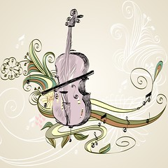 violoncello (Orkydea Negra) Tags: summer music black art classic floral modern illustration composition vintage print design sketch stand spring concert branch play hand bass drawing background object cartoon decoration style retro line equipment note musical doodle violin cello bow sound instrument contrabass string classical fiddle drawn vector symphony isolated element violoncello zzzaccaaafgdgfgmgmgp