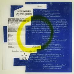"""an apple a day keeps the doctor away - An ENSO (circle) a Day ..."" 22. Sept 14:  List of the Cast ""The Physicists"" (Drrenmatt) - For the same reason: the physicists, my colleague, I: into madhouse or to theatre. Sunny Yellow Circle, Night Blue Paper (hedbavny) Tags: vienna wien blue art collage night circle paper studio typography star austria sterreich theater nacht kunst diary einstein himmel minimal gelb cycle letter wabisabi meditation calligraphy blau stern papier sonne tagebuch fool weltall newton volk atelier kreis narr physik stille enso liste workingroom narrenturm werkstatt forschung gugelhupf madhouse bung irrenhaus sternenhimmel arbeitsraum mbius sonnengelb project365 schizophrenie eisler drrenmatt irr sanatory verantwortung zyklus thephysicists diephysiker friedrichdrrenmatt vortuschen probenbeginn narrenhaus hedbavny besetzungszettel ingridhedbavy"