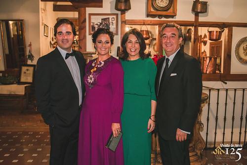 Toño Constantino, Miriam Galiano, Cuca Díaz de la Cuerda y José Luis Humanes. Restaurante Venta de Aires de Toledo