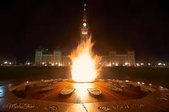 The Centennial Flame (MarcusTeee) Tags: flame night ottawa centennial ontario canada photography fire glow glowing capital