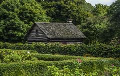 Pioneer Garden (Janet's View2012) Tags: logcabin cabin pioneers garden toledobotanicalgardens ohio toledoohio green history