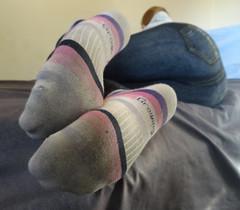 Striped Socks (sockstargirl) Tags: footfetish feet femalefeet socks sockfetish smelly sweaty sexyfeet sexysocks