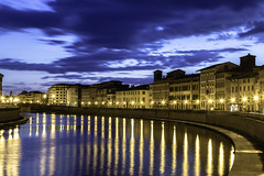 Pise Reflects (J Dg) Tags: arno italy pise reflects sunset sky water