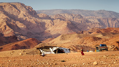 Nomads (Mathijs Buijs) Tags: desert tent nomad pickup dusk sunset valley gorge arid dana nature reserve jordan middleeast canon eos 7d camp