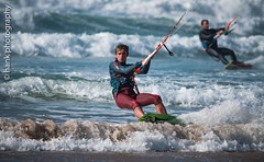 Concentration... (hank photography) Tags: cornwall kernow ocean sea waves action kitesurf kitesurfing colour autumn watergatebay nikon d90 hankphotography september newquay sportphotography actionphotography beach