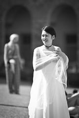 A bit lost (eli calacuda) Tags: italy firenze urban city bw beautiful woman asian wedding dress fashion